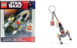 LEGO Star Wars Y-Wing Fighter Bag Charm Keyring in Sealed Packaging
